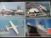 Spruce Goose Queen Mary Londontowne Long Beach California CA 1980s Ship Airplane