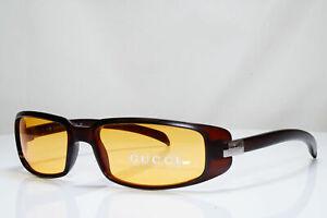 Authentic GUCCI Mens Womens Vintage Sunglasses Brown Rectangle GG 1188 E3P 26376
