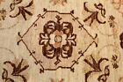 10 Ft. Long TOP OF THE LINE Hanmdade Hall Runner Natural Dyes Beige Color