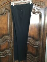 NEW Eileen Fisher Black Viscose Stretch Ponte Skinny Jean/Pant P0017 Size 16