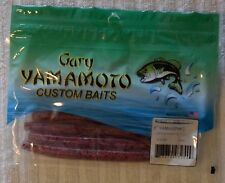 "Gary Yamamoto 5"" Senko - Clear w/ Black and Red Flake"
