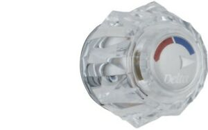 Delta H71 One Traditional / Classic Clear Knob Handle
