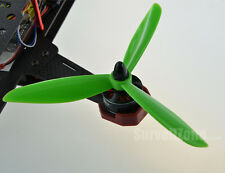 DALPROP 2 Pairs Tri-Blade TJ6045 Props for FPV Racing ORANGE