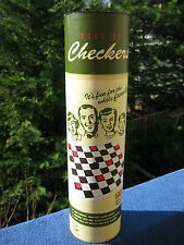 Roll Up Checkers Lightweight Portable Game`New In Opened Canister!