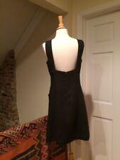 Alberta Ferretti Black Backless Sheath Above Knee Dress Empire Waist 44/10/8