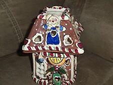 2002 Blue Sky Clayworks Gingerbread HouseTealight Heather Goldminc Ec
