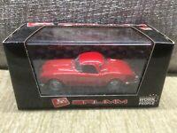 LANCIA AURELIA B24 CABRIOLET RED / RED HARDTOP 1:43 BRUMM MODEL * VGC BOXED *