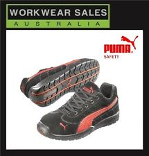 Puma Composite Steel Toe Cap Safety Work/Shoes 'Silverstone 642637. Blk/Red