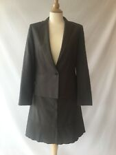 Cour Carre Women's Gray Skirt Blazer Suit Set Wool Career Size 44 US 4 Small