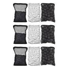 3 lb Active Carbon + 3 lbs Ceramic Rings + 150pcs Bio Balls for Aquarium Filter