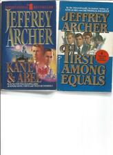 JEFFREY ARCHER - KANE & ABEL - A LOT OF 2 BOOKS