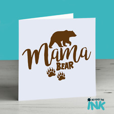 Cute Birthday Card - Mama Bear - Mam Mum Baby Bear Mothers Day