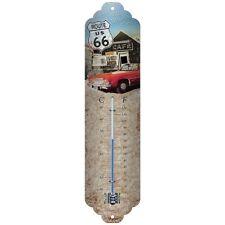 Termometro in Latta Vintage Route 66 The Mother Road 7 x 28 in metallo decorato