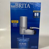 BRITA On Tap FAUCET MOUNT WATER FILTRATION SYSTEM CHROME 2-FILTERS (FAST SHIP!!)