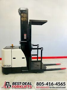 """QTY 15: Refurbished 2015 Crown Electric Order Pickers   240"""" Mast   LOW HOURS"""