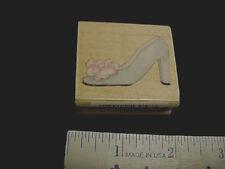 Fancy Shoe Flower Susan Branch Designer Wood Mounted Stamp NEW