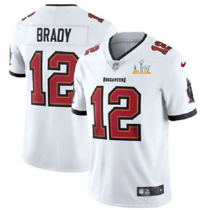 TOM BRADY TAMPA BAY BUCCANEERS WHITE SUPER BOWL LV MEN XL JERSEY. NWT. STITCHED