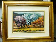 quadro olio su tela ARISTODEMO CAPECCHI pittore pistoiese