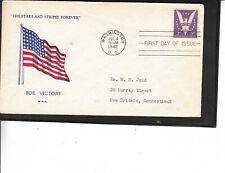 WW2 PATRIOTIC FDC #905 WIN THE WAR STARS STRIPES FOREVER GRANDY CACHET ULTRA