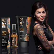 ** amo mi Tinta Tatuaje postoperatoria Set 3PC aceite spray Nueva ** mejorar Color Crema
