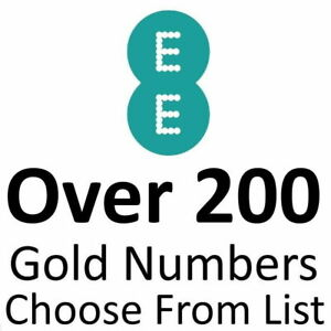 EE GOLD VIP BUSINESS EASY MOBILE PHONE NUMBER DIAMOND PLATINUM PAYG SIM CARDS