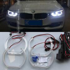 4x White led SMD Angel Eyes Halo Acrylic Rings light For BMW 3's F30 F35 13-2016
