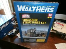 WALTHERS HO SCALE CORNERSTONE SERIES KIT-TRACKSIDE STRUCTURES SET