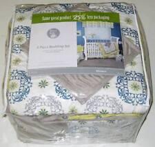 TREND LAB BABY MONACO CRIB BEDDING SET Yellow Gray White Blue Toddler Comforter