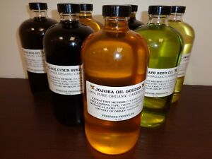 100% Pure Cold Pressed CARRIER OILS Organic Virgin Unrefined Natural Choose Type