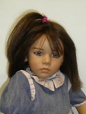 "Pre-owned Annette Himstedt 30"" Friederika Doll from 1987 w/COA & Box, Box As Is"
