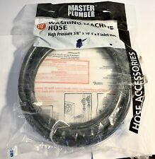 "Master Plumber Washing Machine Hose High-Pressure 3/8"" X 10' F X F Inlet Hose"