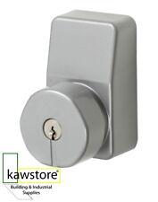 Exidor 298 Knob Outside Access Cylinder Lock Unit, Silver Finish