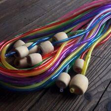 Good Afghan Tunisian Rug Crochet Hooks Set Colored Tube Bamboo Knitting Needles