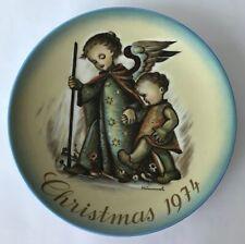 "Hummel Guardian Angel Vintage Christmas Plate Schmid 1973 West Germany 7.75"""