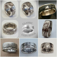Coin ring Hand Made Walking Liberty 1945 Half Dollar Coin Ring U Pick Size 6-13