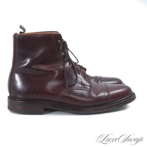 #1 MENSWEAR Brooks Brothers Peal & Co C&J 240 England Shell Cordovan Boots 10 D