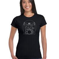 tocar la batería Vitruvio de DA VINCI hombre - Mujer Camiseta Graciosa Baterista