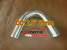 "63mm 2.5"" Elbow Aluminum Turbo Intercooler Pipe Piping Tubing L=600mm 135 Degree"