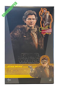 READY HOT TOYS STAR WARS STORY HAN SOLO ALDEN EHRENREICH DELUXE MMS492 1/6 MISB
