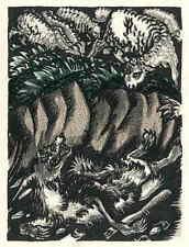 WOLF & SCHAF - Ludwig Heinrich JUNGNICKEL - Original FarbLithographie 1919