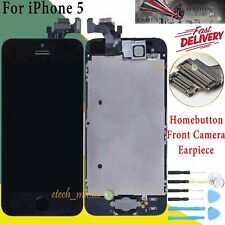 Assembly For iPhone 5 LCD Display Touch Screen Digitizer HomeButton Camera Black