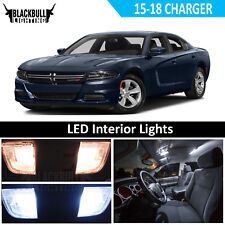 White LED Interior Light Accessory Kit MAP DOME for 2015-2018 Dodge Charger 11PC