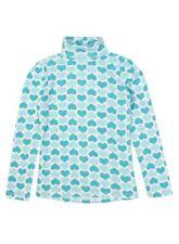 Vêtements bleus à manches longues pour fille de 2 à 16 ans en 100% coton, taille 4 - 5 ans