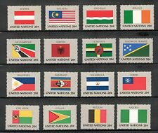 Un 374-389 Complete Flag Set Of 16 Mint/nh (Free Shipping)