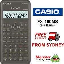 CASIO SCIENTIFIC CALCULATOR FX-100 FX100 FX100MS 2ND EDITION WRNTY AUSSIE SELER