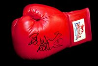 Frank Bruno Hand Signed Red Lonsdale Boxing Glove Boxing Glove