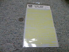 """Color Image O HO S G N decals Dry Trf Alphabet yellow RR roman 3/32"""" - 3/16"""" H92"""