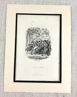 1885 Antique Imprimé Fronde The Singe George Cruikshank Illustration Victorien D