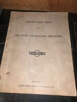 Collins Radio Co. Navigation receiver 51R-2 VHF Instruction Book Manual.