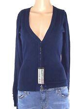 cardigan donna blu lana cashmere taglia s / m small medium
